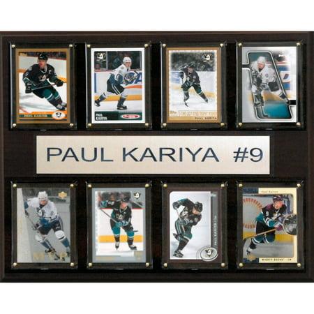 Signed Anaheim Ducks - C&I Collectables NHL 12x15 Paul Karyia Anaheim Ducks 8-Card Plaque