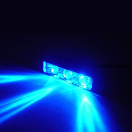 BLUE 3 LED NEON MOTORCYCLE/CAR/BOAT/HOME POD LIGHTS ULTRA BRIGHT Street N Glow Street Glow Led Pod