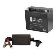 YTX20L-BS Battery for Honda 1800 CC GL1800 GoldWing + 12V 4Amp Charger