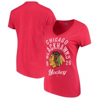 NHL Chicago Blackhawks Ladies Classic V-Neck Tunic Cotton Jersey Tee