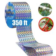 Bird Repellent Deterrent Scare Tape Dual-sided Reflective and Holographic Keep Birds Away for Pigeons, Grackles, Woodpeckers, Geese, Herons, Blackbirds