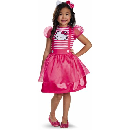 Plus Size Hello Kitty Costume (Hello Kitty Basic Plus Child Halloween)