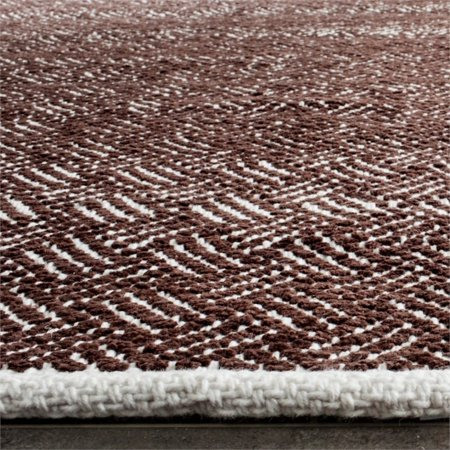 """Safavieh Boston 2'3"""" X 7' Hand Woven Cotton Pile Rug in Brown - image 4 of 7"""