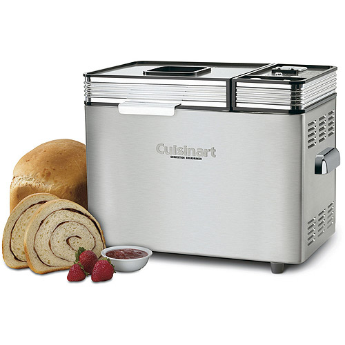 Cuisinart 2-Pound Fully Automatic Compact Bread Maker with LCD Display, Stainless Steel