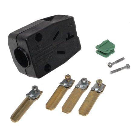 Leviton B00-00287-00T Commercial Grade Straight Blade Angle Plug