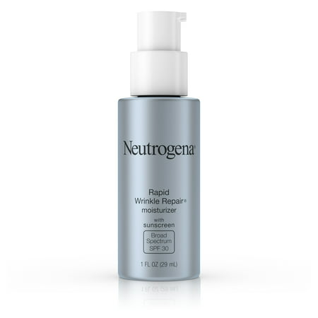 Neutrogena Rapid Wrinkle Repair Face & Neck Moisturizer SPF 30, 1 fl. (Best Natural Moisturizer With Spf For Oily Skin)