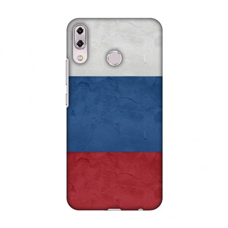 Asus Zenfone 5Z Case, Premium Ultra Slim Handcrafted Designer Hard Snap on Shell Case Back Cover with Screen Cleaning Kit for Asus Zenfone 5Z ZS620KL - Russia Flag-