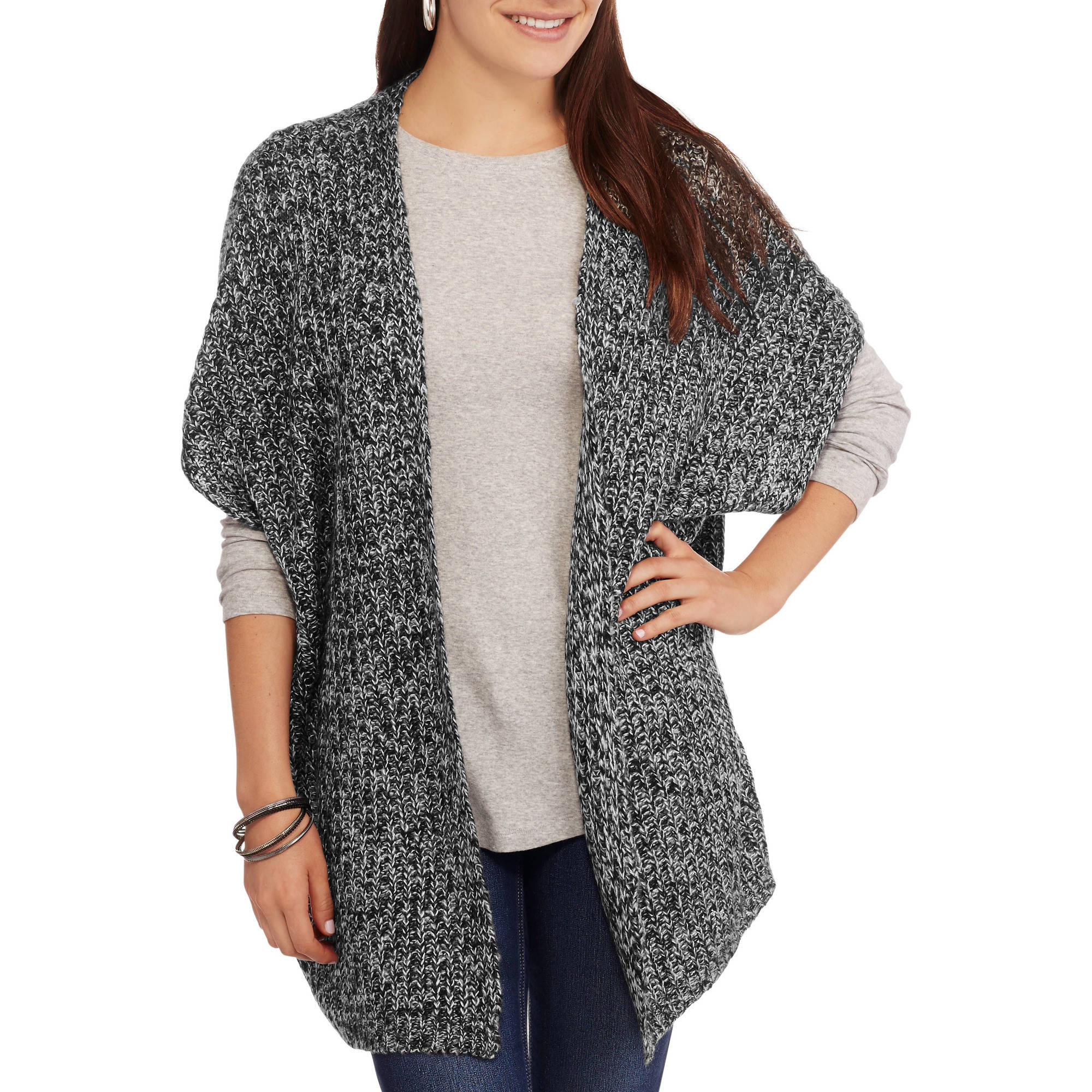 Faded Glory Women's Shaker Cape Sweater