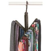 StorageMaid 3-Pack Tie & Belt Rack – Necktie Accessories Organizer – 20 Non-Slip Hanger Hooks Each – Rotates 360 Degrees – Storage Solution for Neckties and Belts – Men's Gift – High Gloss Black