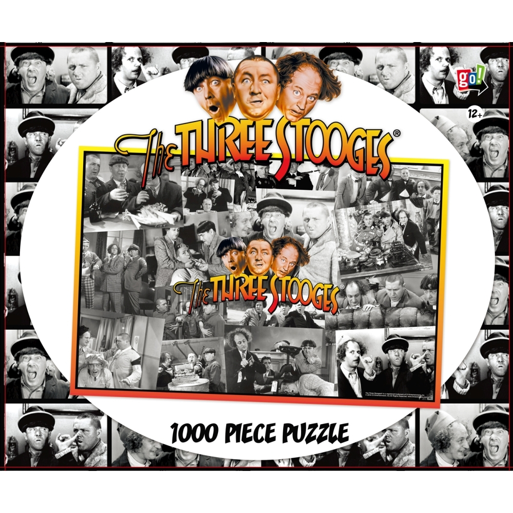 3 Stooges Shennanigans 1000 Piece Puzzle,  Classic TV by Go! Games