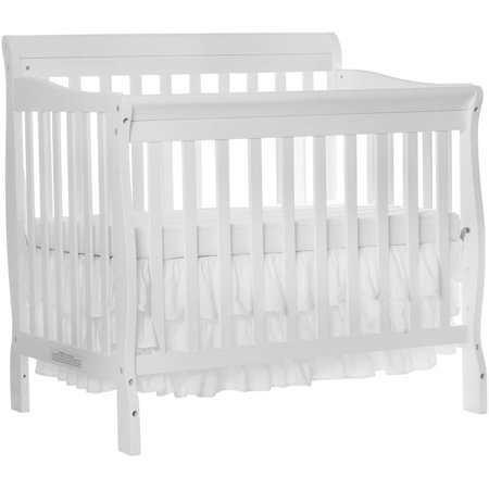 Dream On Me Aden 4-in-1 Convertible Mini Crib White