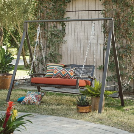 Yard Swing Stand - Belham Living Universal A-Frame Metal Porch Swing Stand