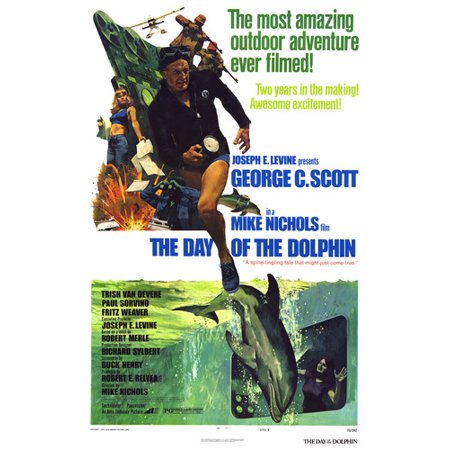 George C. Scott and Trish Van Devere in The Day of the Dolphin great art 24x36 Poster