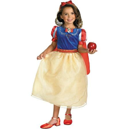 Morris costumes DG50568L Snow White Dlx Child 4X-6X](Snow White Costume For Sale)