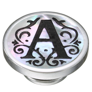 Mother of Pearl Silver A Initial Jewelpop