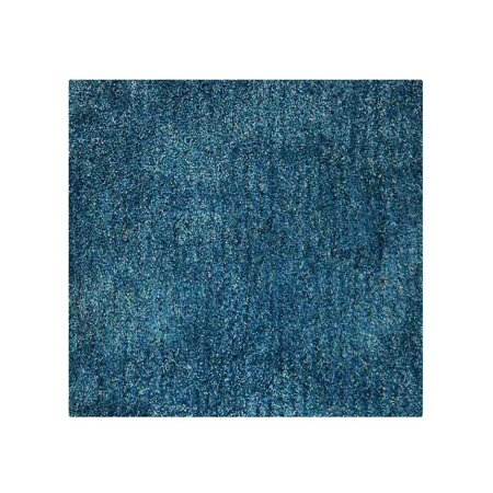 Hand Tufted Shag Polyester Solid Indoor Area Rug Square