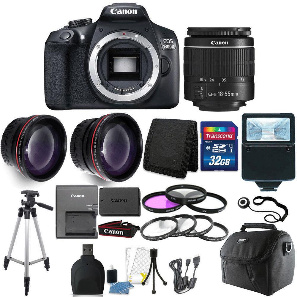 Canon Eos 1300d T6 18mp Dslr Camera 18 55mm Lens 32gb Accessory Kamera 55 Iii Kit