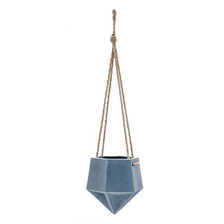 Cheap Ceramic Pots (Belham Living Brille Low Hexagon Faceted Hanging Ceramic)