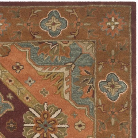 Safavieh Heritage 6' X 9' Hand Tufted Wool Pile Rug in Rust ()