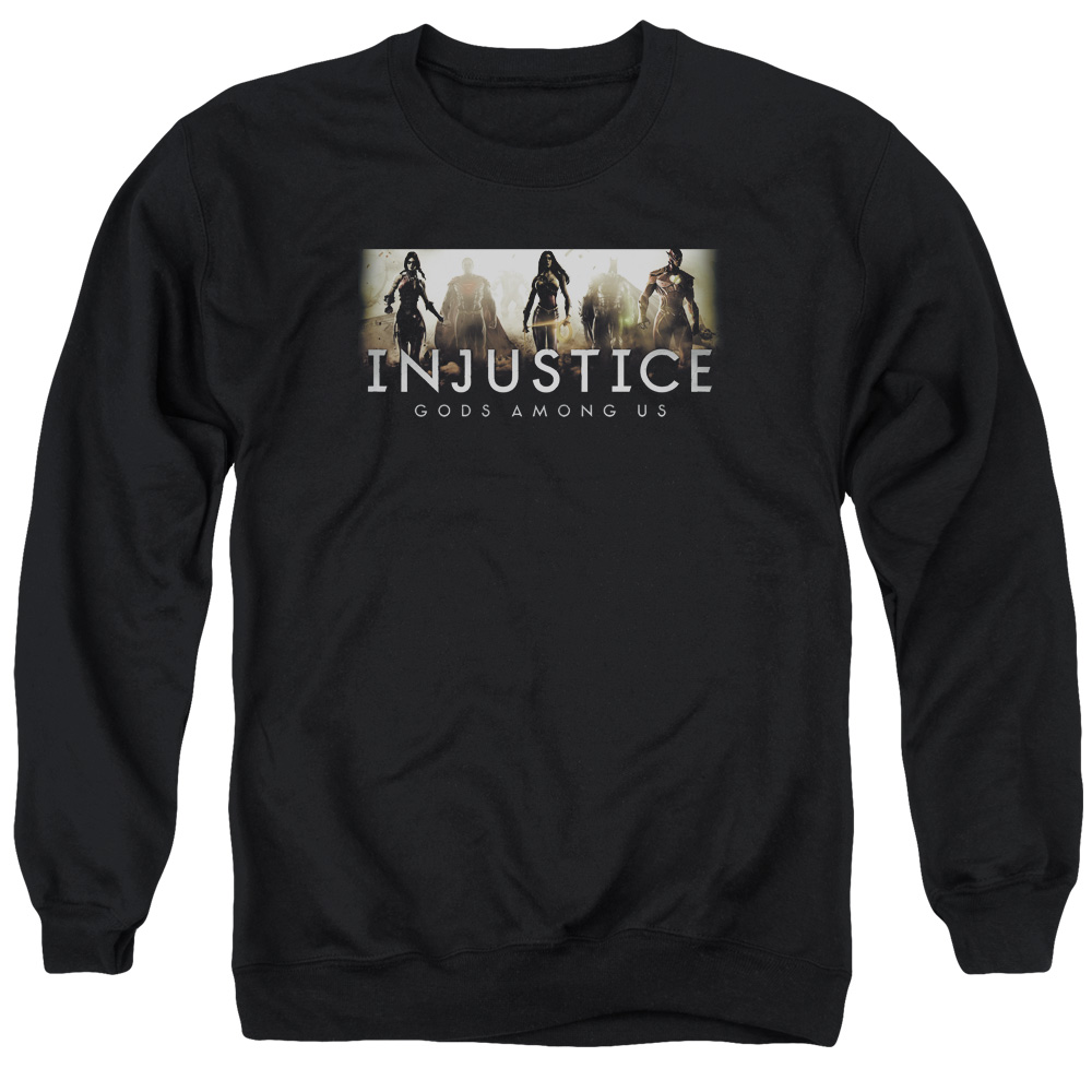 Injustice Gods Among Us Logo Mens Crewneck Sweatshirt