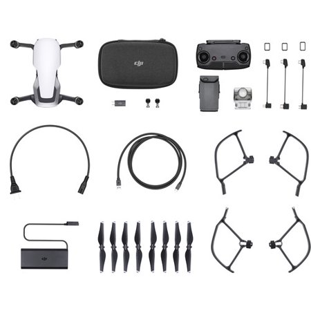 DJI Mavic Air Drone Quadcopter Hard Shell Anti-Choc Carrying Sac ? dos Batterie Bundle (2 Batteries, Blanc Arctique) - image 1 de 5
