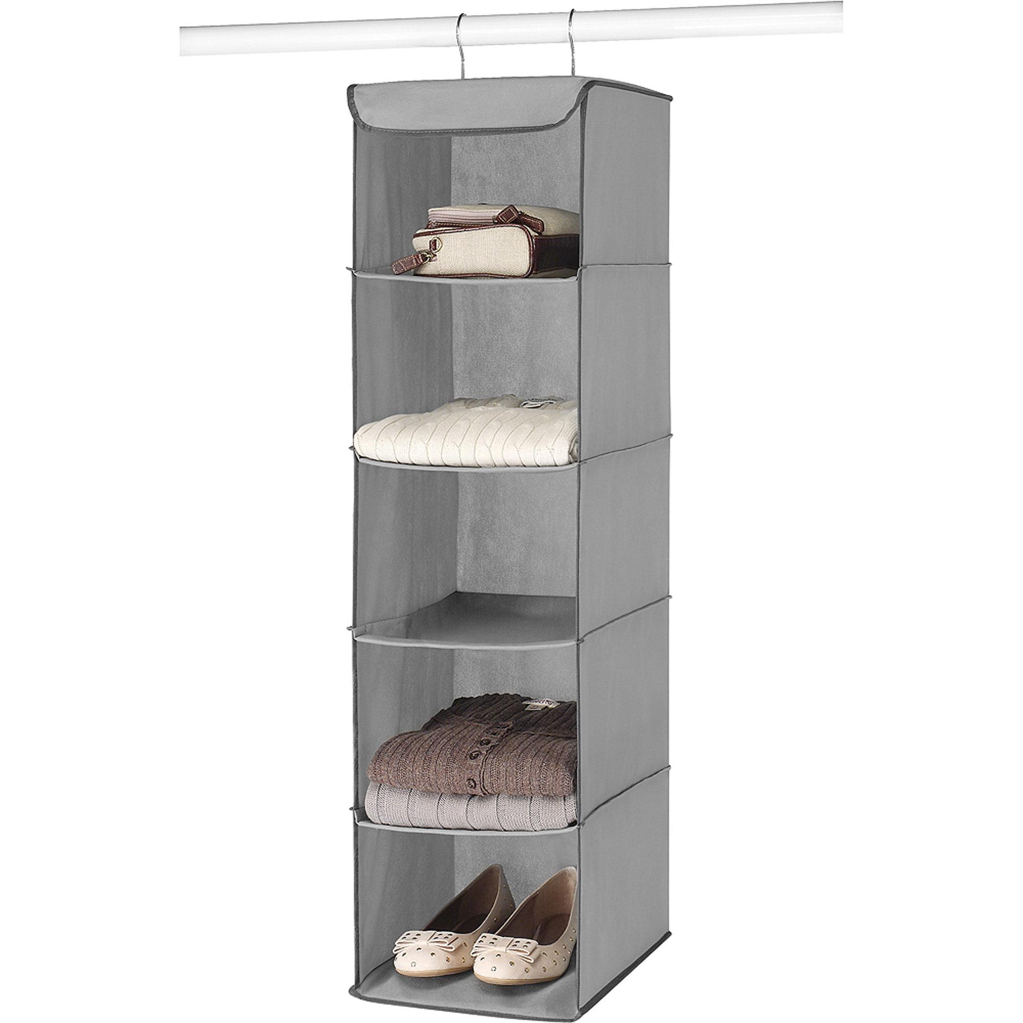 Hanging Shelves whitmor hanging accessory shelves, grey - walmart