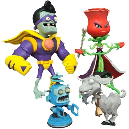 Diamond Select Toys Plants Vs Zombies Garden Warfare 2 Select Rose Vs Captain Brainz Action