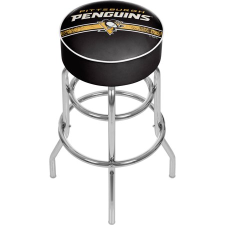 Awesome Nhl Chrome Bar Stool With Swivel Pittsburgh Penguins Andrewgaddart Wooden Chair Designs For Living Room Andrewgaddartcom