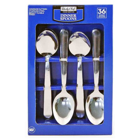 - Daily Chef Oval Soup Spoons, 36 Pc