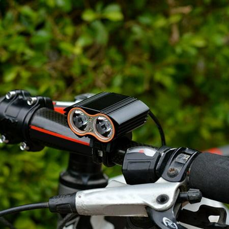 New Arrival Portable Searchlight 2000 Lumen Xx2 Led Usb Rechargeable Bicycle Bright Light Mtb Bike Headlight