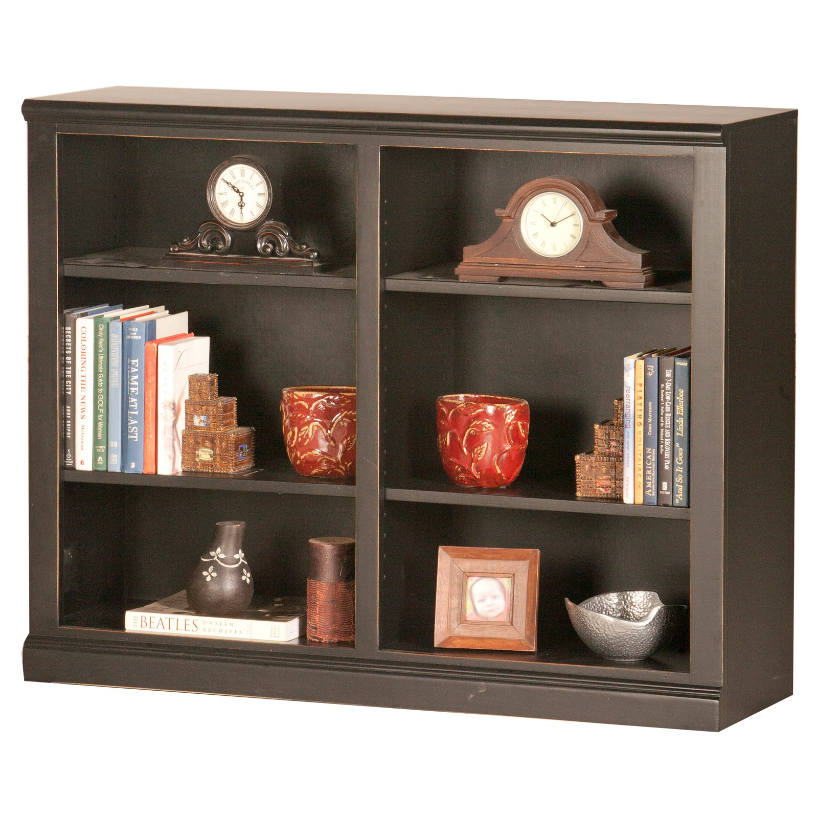 Eagle Furniture Coastal Customizable 36 in. Double Wide Bookcase