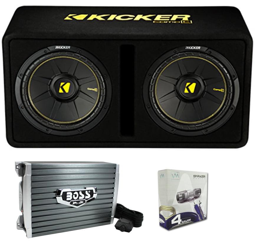 "Kicker 44DCWC122 12"" 1200W Car Audio Subwoofer Sub Enclosure+Mono Amplifier Amp by Kicker"