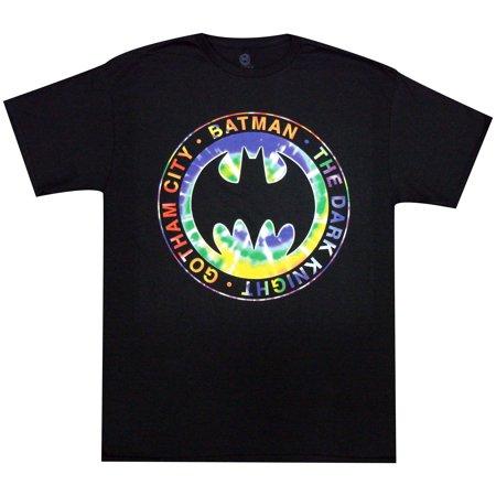 Batman The Dark Knight Gotham City Tie Dye Logo Adult