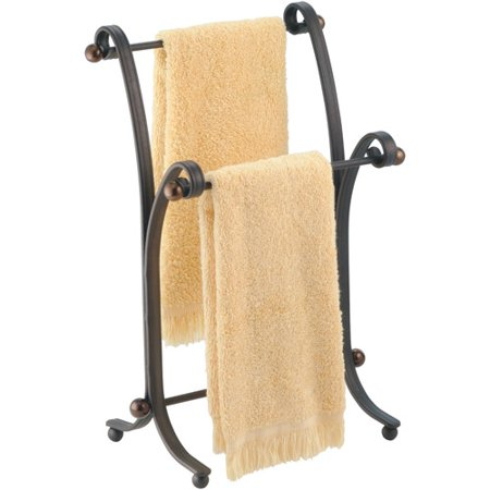 InterDesign York Metal Bath Towel Holder Stand for Bathroom