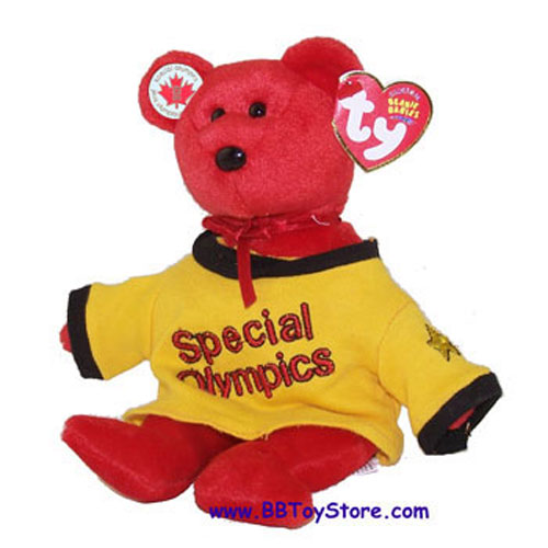 TY Beanie Baby - CANADA the Bear (Special Olympics w/ Gold Shirt & Pin) (8.5 inch)