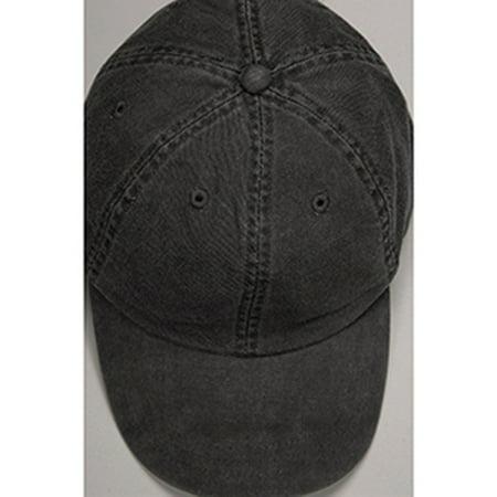 Image of Adams Headwear 00820599097508 ESSENTIALS PIGMENT DYED EP101 BLACK