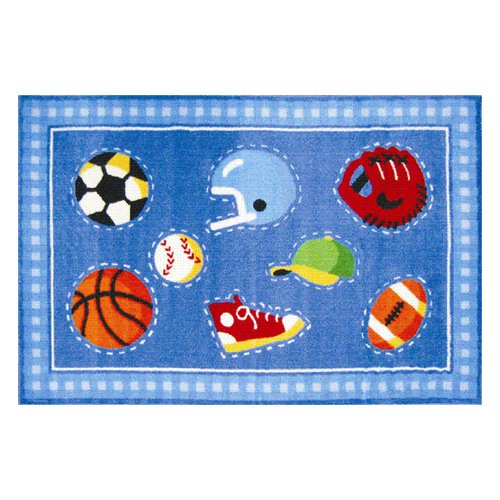 L.A. Rugs Go Team Sports Kids Area Rug - Walmart.com