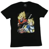 Dragon Ball Fighter Z Mens T-Shirt - Goku Vs Vegeta Matchup Image