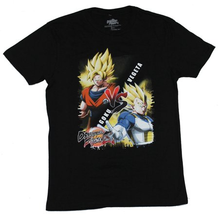 Dragon Ball Fighter Z Mens T-Shirt - Goku Vs Vegeta Matchup Image ()