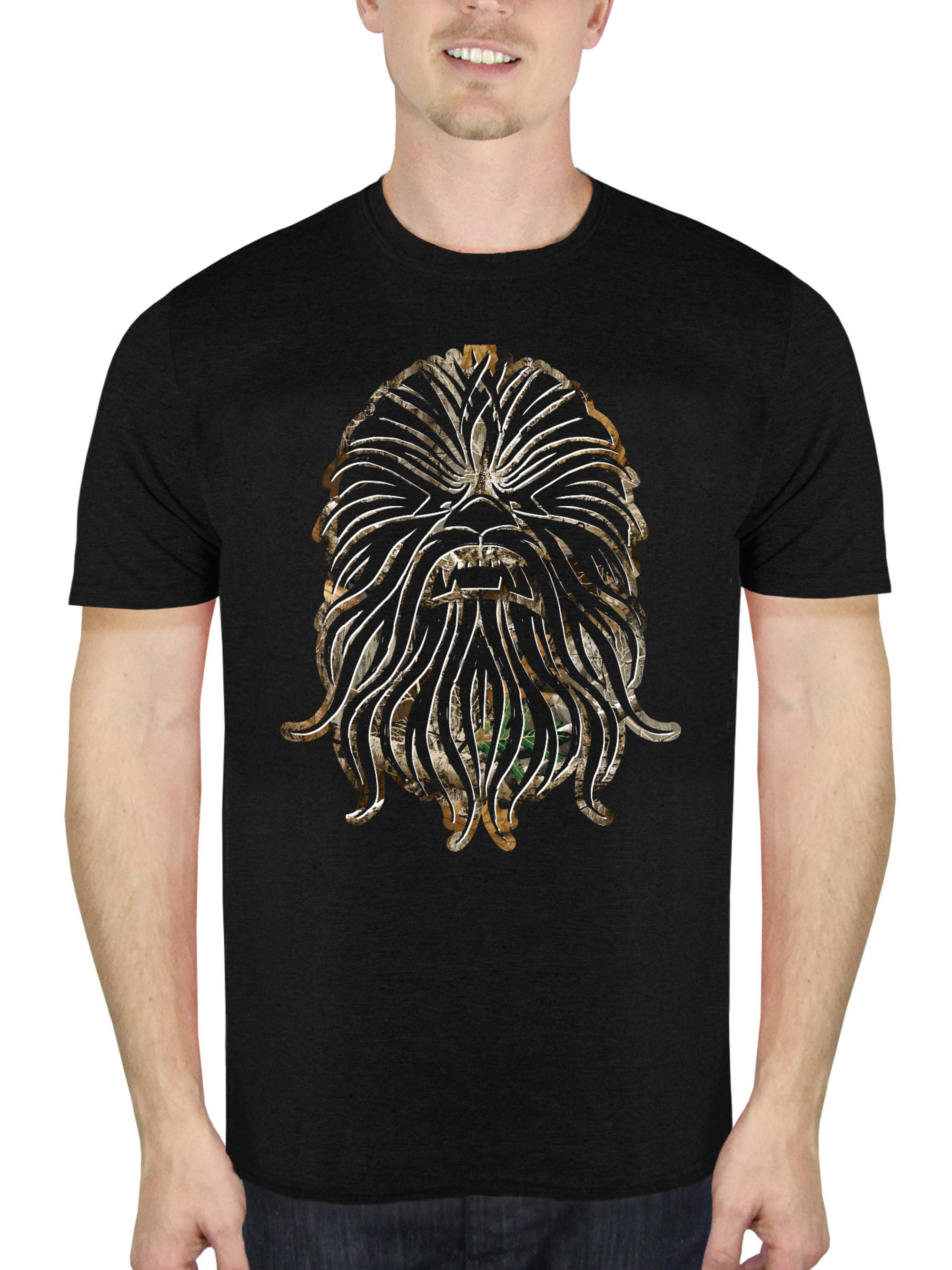 Solo: A Star Wars Story Men's Chewie Big Face Short Sleeve Graphic T-Shirt, up to Size 2XL