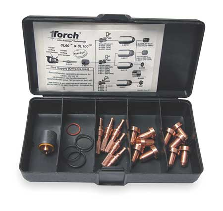 Plasma Torch Consumable Kit,50-55 Amps VICTOR THERMAL DYNAMICS 5-2552