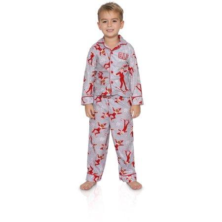 Kids Elf Pajamas (Elf on the Shelf Ski Patrol Boy's 2 piece Pajama Set, Multi-color, Size:)