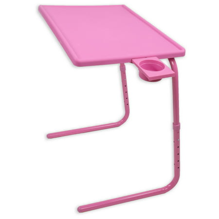 Awe Inspiring Portable Foldable Tv Tray Table Laptop Eating Drawing Tray Table Stand With Adjustable Tray With Sliding Adjustable Cup Holder Pink Interior Design Ideas Gentotryabchikinfo