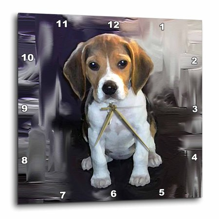 3dRose Beagle - Wall Clock, 10 by - Beagle Clock