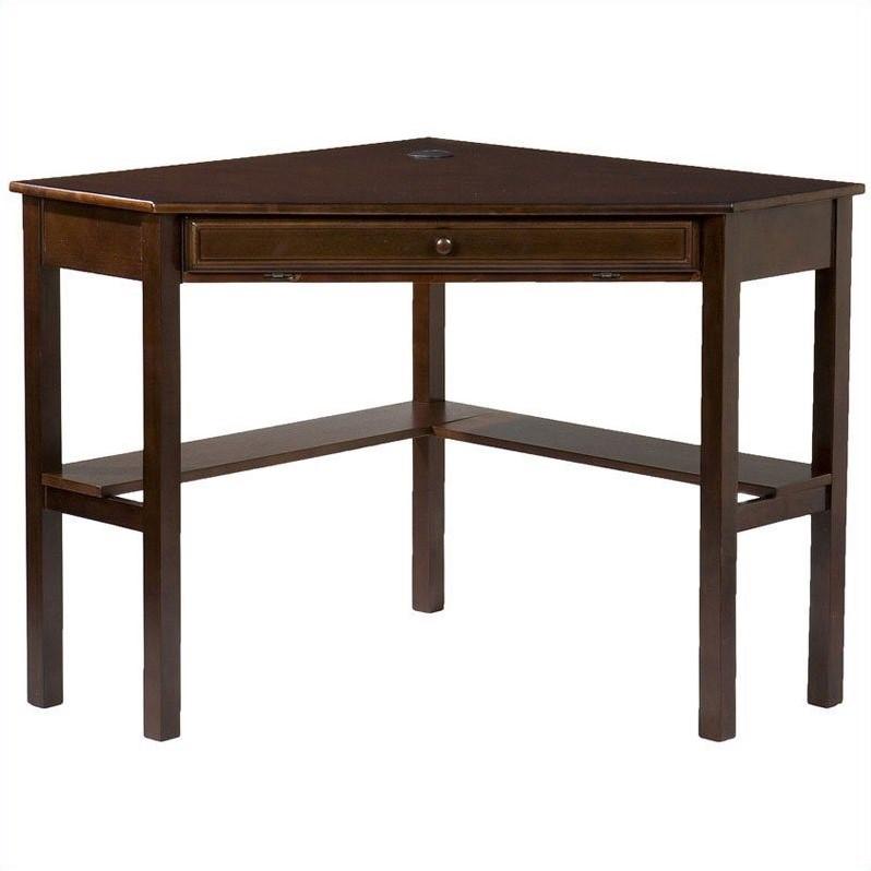 "Southern Enterprises Corner Computer Desk 48"" Wide, Espresso Finish - image 7 de 8"