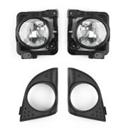 Areyourshop LH+RH Foglight Fog Light Lamp Cover Metal Without Bulbs For Acura TSX 2009-2010