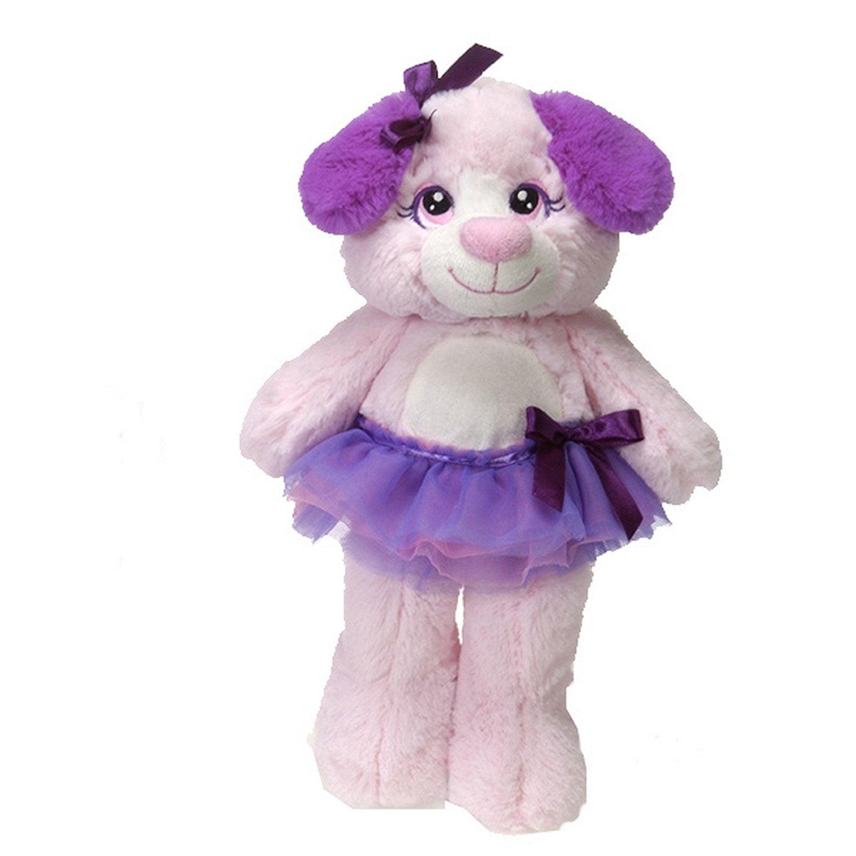 "Fiesta Tutu Sweet 12"" Allegro Pink Puppy Dog Stuffed Animal"