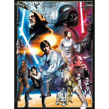 Star Wars Puzzle (Buffalo Games Star Wars Vintage Art - The Circle Is Now Complete: 1000)