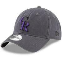 Product Image Colorado Rockies New Era Primary Logo Core Classic 9TWENTY  Adjustable Hat - Graphite - OSFA 8feb534f5956