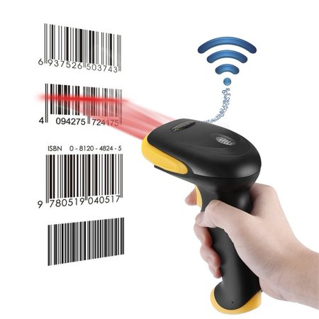 Ktaxon 2.4G High Speed Wireless Laser Bar Code Scanner Label Reader, USB Cordless Handheld Automatic Scan Gun with Charger for Windows devices, Store, (Best Barcode Scanner 2019)